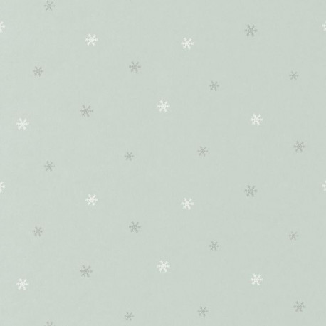 Papier peint Flocon de neige bleu - HAPPY DREAMS - Casadeco - HPDM82836127