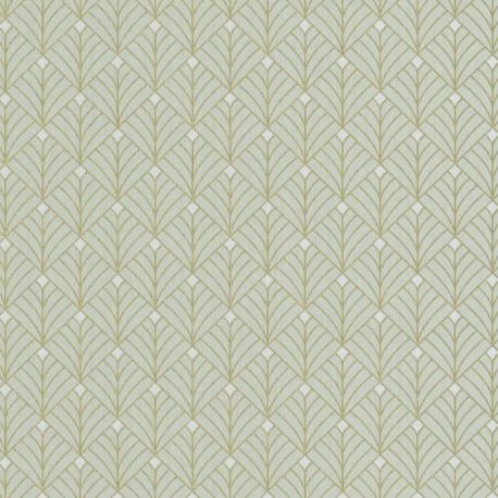 Papier peint MISTINGUETT vert d'eau et doré - SCARLETT - Caselio