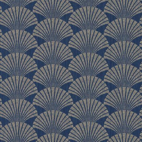 Papier peint Pearl bleu nuit et or - SCARLETT - Caselio - SRL100496025