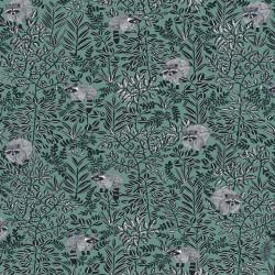Papier peint FREE SPIRIT vert pin