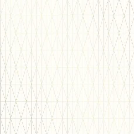 Papier peint TOFTA crème, or- TERENCE CONRAN- LUTÈCE