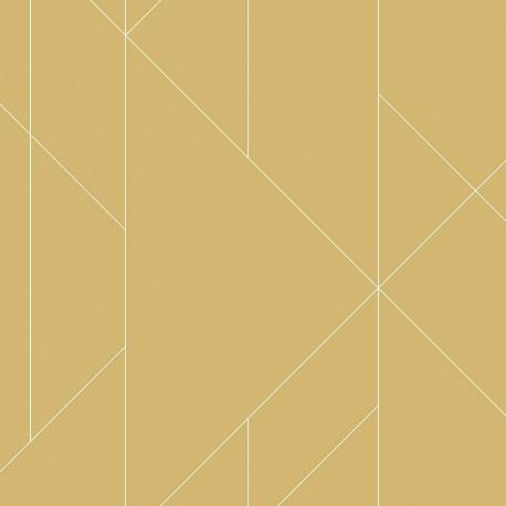 Papier peint TORPA moutarde. TERENCE CONRAN - LUTÈCE