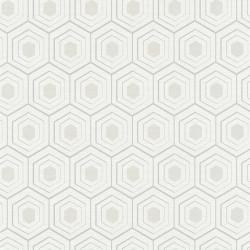 Papier peint vinyl sur intissé ALVEOLE argent, gris- FOUR SEASON - Lutèce