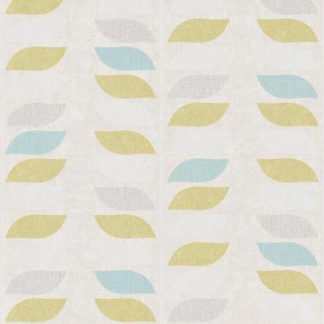 Papier peint à motif Tige vert et bleu - Collection INSPIRATION WALL - GRANDECO