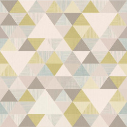 Papier peint à motif Triangles vert - Collection INSPIRATION WALL - GRANDECO