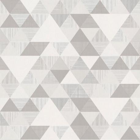 Papier peint à motif Triangles gris - Collection INSPIRATION WALL - GRANDECO