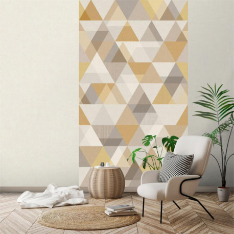 Panoramique Triangles moutarde - INSPIRATION WALL - Grandeco - IW2401-MURALC
