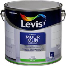 Peinture murale blanche mat 2,5L LEVIS