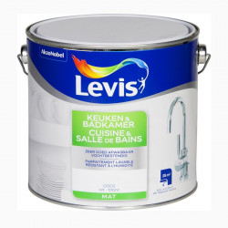 Peinture spéciale cuisine et salle de bain blanc mat LEVIS