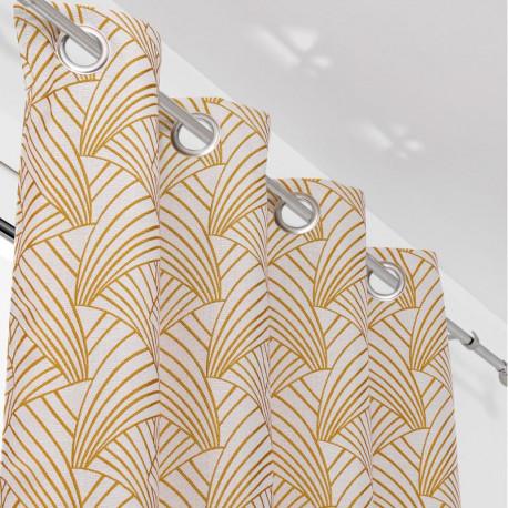 Rideau à œillets jaune moutarde - ARDECO - Linder