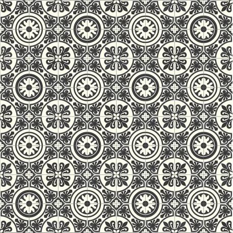 Lino 4M - Lagos 909D carreaux de ciment noir et blanc - Plaza Beauflor