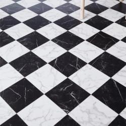 Sol vinyle VINCA 698 damier marbre noir blanc - Largeur 3m - Luxury Trends - IVC Leoline