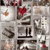 Papier peint Love pailleté bordeaux et noir et blanc  - FREE STYLE - Ugepa
