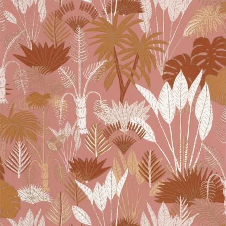 Papier peint Philippines Terracota et rose - L'ODYSSEE - Caselio