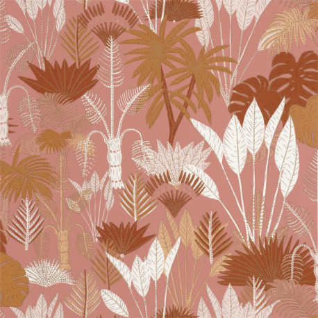 Papier peint Philippines terracotta et rose - L'ODYSSEE - Caselio - OYS101414105