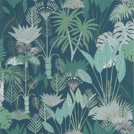 Papier peint Philippines Bleu nuit et vert - L'ODYSSEE - Caselio
