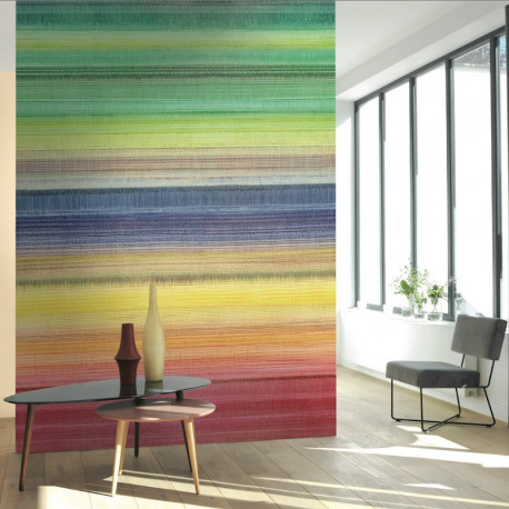Panoramique MULTISTRIPE jaune - Beauty Full Image par Casadeco