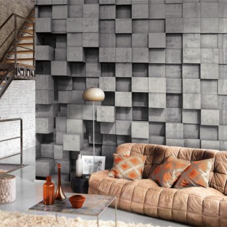 Panoramique SQUARE EFFECT gris - Beauty Full Image par Casadeco