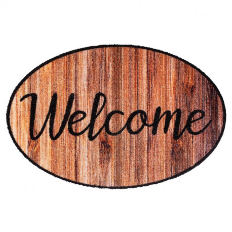 Paillasson / Tapis de propreté PRESTIGE SHAPE Welcome Wood Hamat