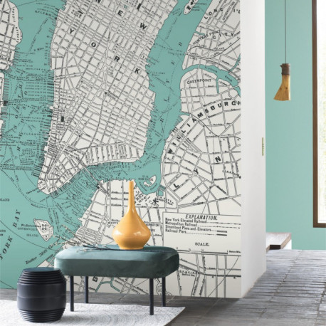 Panoramique NEW YORK CITY bleu - Beauty Full Image par Casadeco