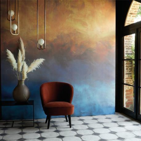 Panoramique SUNSET cuivre bleu - Beauty Full Image par Casadeco