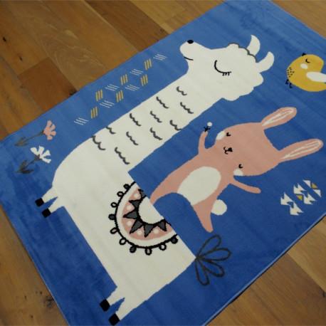 Tapis enfant LAMA bleu - 120x170cm - FLASH