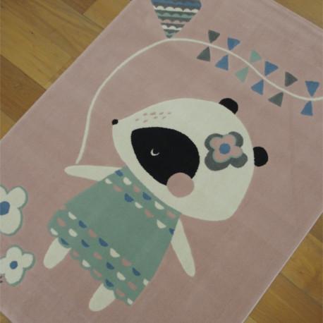 Tapis enfant Petite Souris rose - Canvas - 120x170cm