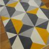 Tapis formes 3D jaune et gris - Canvas - 140x200cm