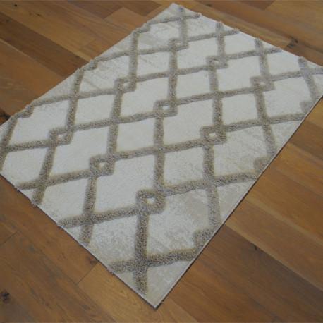 Tapis corde et shaggy Berbère écru et taupe - 120x170cm - RITUAL