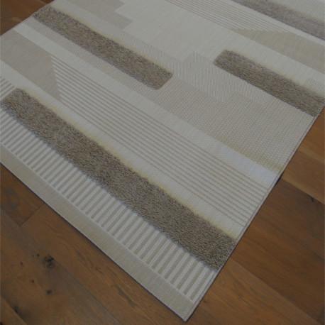 Tapis corde et shaggy Moderne écru, beige et taupe - 160x230cm - RITUAL