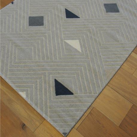 Tapis Géométrie à motifs triangles - gris clair - 120x170cm - SHADE