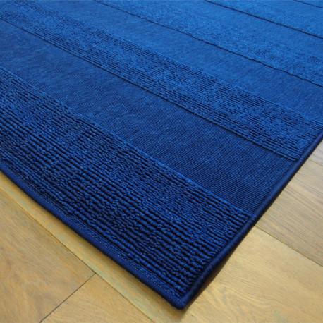 Tapis SFYNX bouclé structuré bleu nuit - 140x200cm
