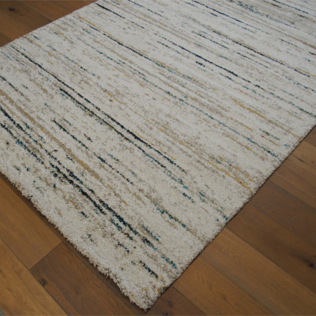 Tapis shaggy à motif traits colorés - 200x290cm - SHERPA