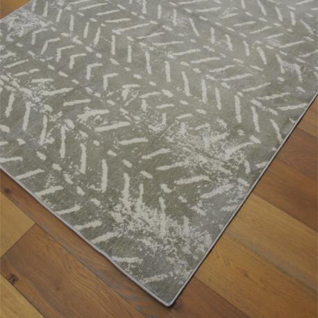 Tapis tout doux FLY gris à motif chevrons ethniques - 160x230cm