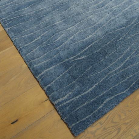 Tapis tout doux CHILL bleu à motif vagues - 120x170cm