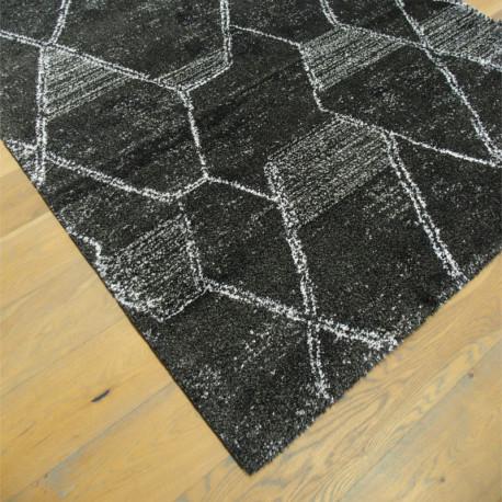 Tapis shaggy NOA anthracite à motif moderne - 160x230cm