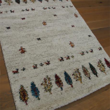 Tapis shaggy à motif ethnique - losanges colorés - 160x230cm - SHERPA BALTA