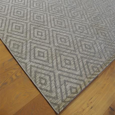 Tapis cordes tressées à motif losanges gris - 200x290cm - INDY