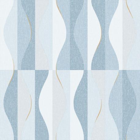 Papier peint Ondulation bleu - MOOVE - Caselio MVE101386134