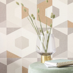 Papier peint Pop beige taupe - MOOVE - Caselio MVE101337712