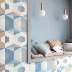 Papier peint Pop bleu madura doré blanc - MOOVE - Caselio MVE101376105