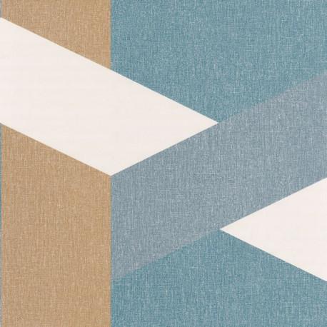 Papier peint Twist bleu madura doré - MOOVE - Caselio MVE101356319