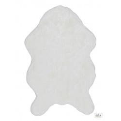 Tapis tout doux Astra Tender blanc 60x90cm forme peau de bête