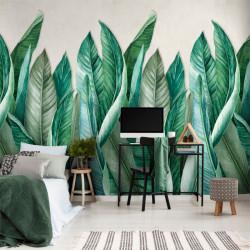 Panoramique photo feuilles Bananier vert - Collector - GRANDECO