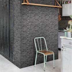 Papier peint Briques noires Quarry Brick - Original - GRANDECO Life