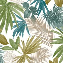 Papier peint JUNGLE FEVER bleu vert et doré - Collector GRANDECO Life