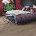 """QUICK STEP - Livyn Pulse Click - Lames PVC à clipser """"PUCL40086 chêne tempête de sable marron"""" (résistant)"""