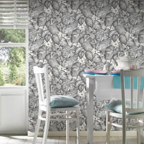 Papier peint Jungle noir et blanc - COLIBRI - AS Creation - 366252