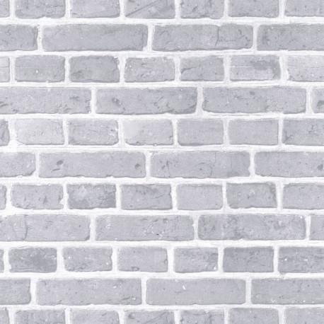 Papier peint briques grises - Au bistrot d'Alice - Caselio
