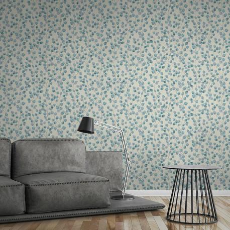Papier peint Floral blanc bleu 370444 - Greenery - AS CREATION